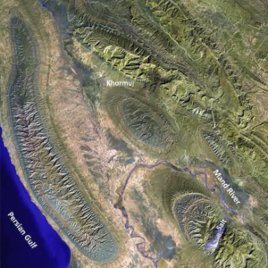 Landsatimage of large anticlines in the ZagrosMountains (NASA).