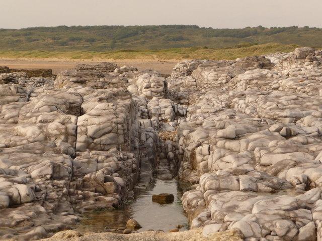 Limestone Rocks on the Beach