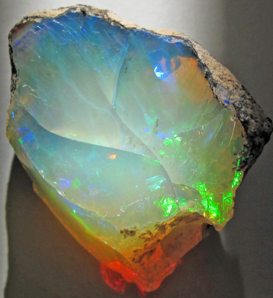 Hydrophane opal (precious opal) dried out (Tertiary; Ethiopia)